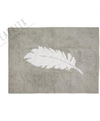 alfombra-lavable-pluma-gris-blanco