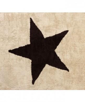 Alfombra lavable Estrella en color beige