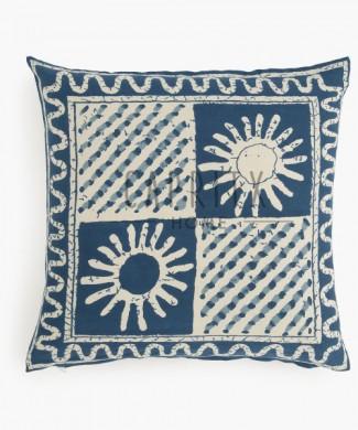 funda de cojín Batik en color azul