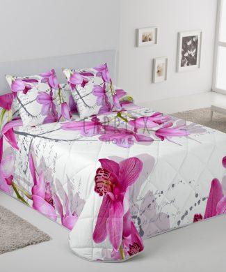 Edredon Estamapcion digital Orquidea rosa