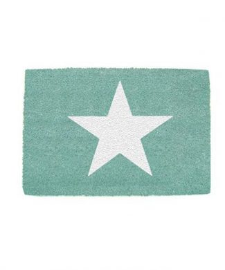 felpudo-estrella-blanca-verde-mint