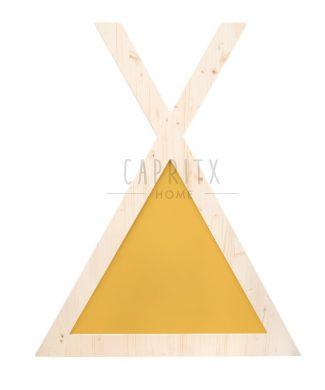 cabecero-cabaña-amarillo-individual