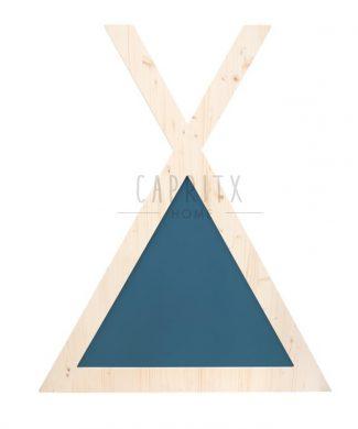 cabecero-cabaña-azul-individual