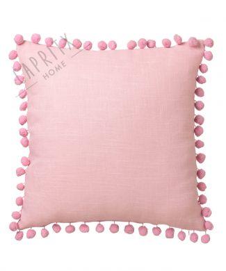 cojin-rosa-pompones-45x45-caprithome