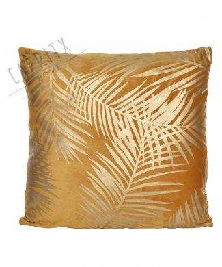 Cojin-terciopelo-mostaza-hojas-capritxhome