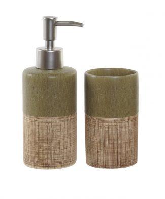 set-baño-verde-marron-capritxhome