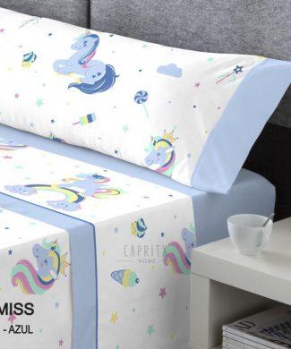 juego-sabanas-coralina-unicornio-azul-catotex
