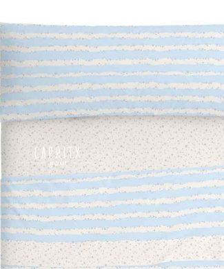 JUEGO DE SABANAS INFANTIL 100 -011-azul - BURRITO BLANCO - CAPRITX