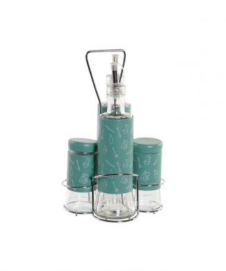 SET X 4 COCINA - VINAGRERA Y ACEITERA cristal e inox b - CAPRITX HOME