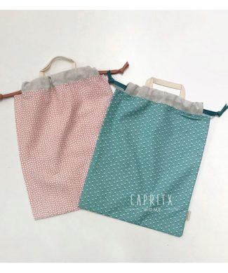 bolsa impermeable nil verde y rosa